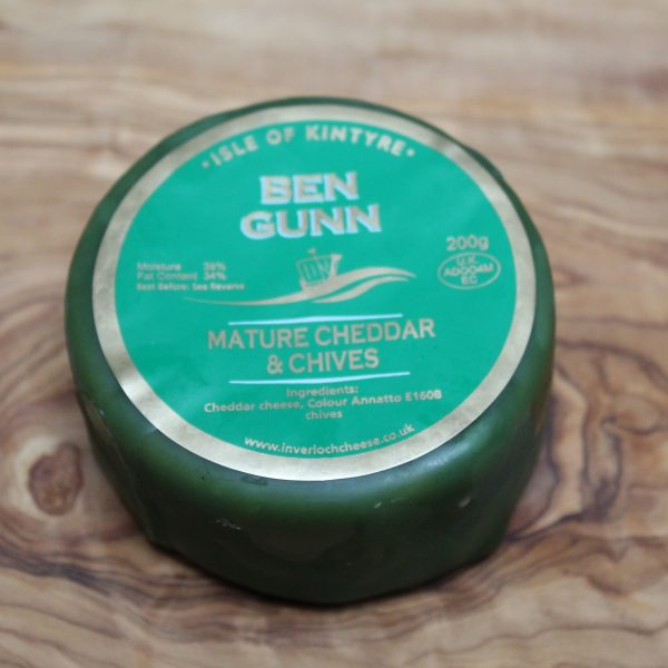ScotCheese Isle Of Kintyre Ben Gunn Cheddar Cheese With Chives