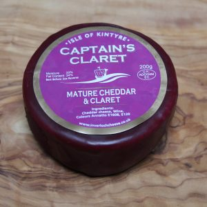ScotCheese Isle Of Kintyre Captain's Claret Cheddar Cheese