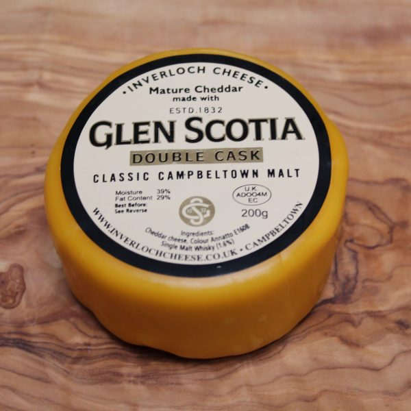ScotCheese Isle Of Kintyre Glen Scotia Double Cask Whisky Cheddar Cheese