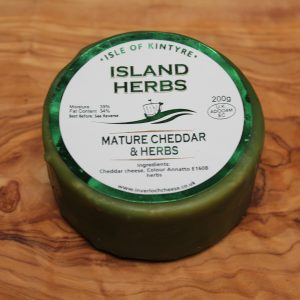ScotCheese Isle Of Kintyre Island Herbs Cheddar Cheese