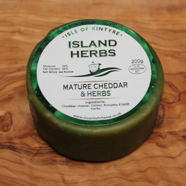 ScotCheese Isle Of Kintyre Island Herbs Cheddar Cheese