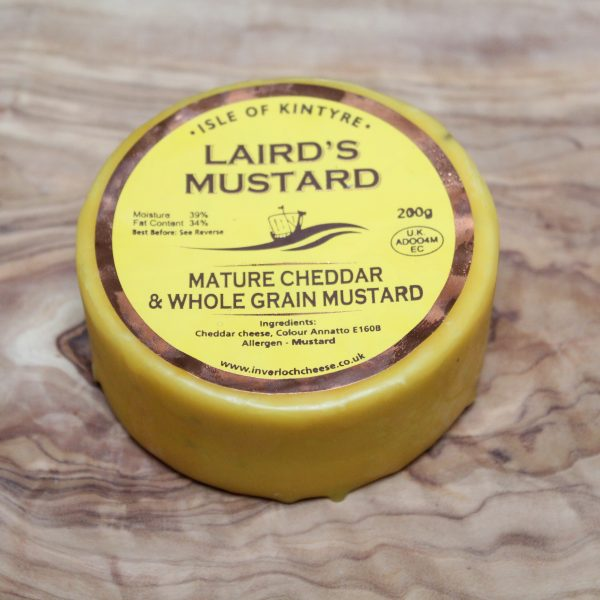 ScotCheese Isle Of Kintyre Laird's Mustard Cheddar Cheese